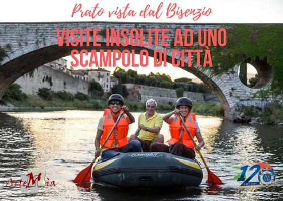 Prato vista dal fiume… in gommone sul Bisenzio da Agosto a Ottobre!