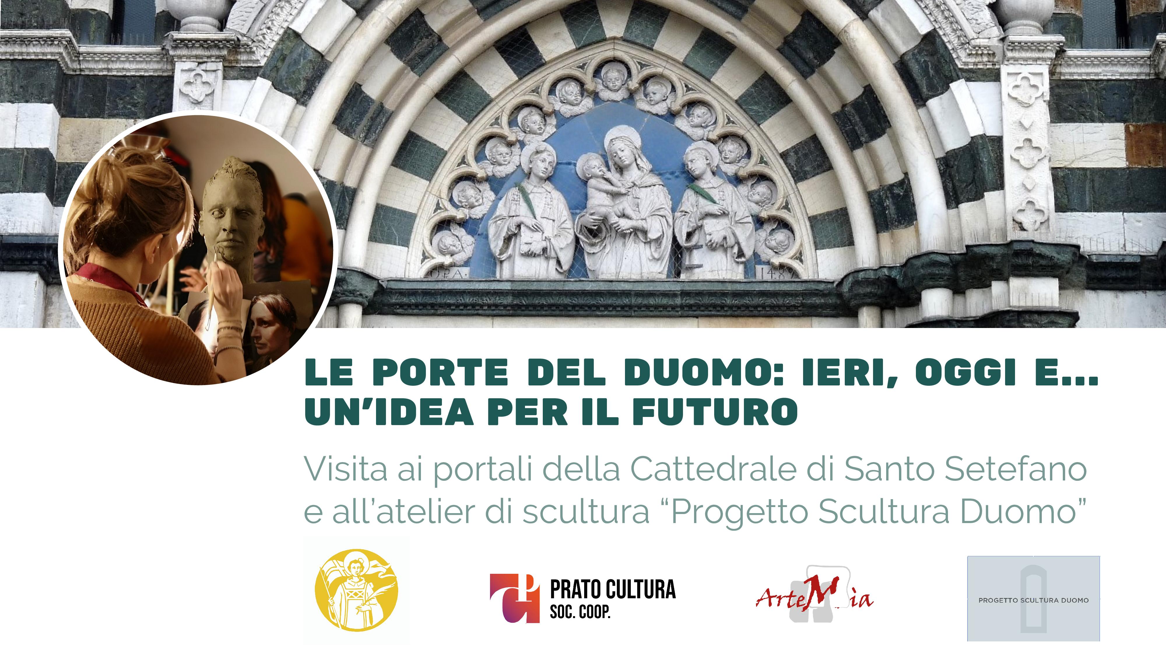 """Visita: Le porte del Duomo: ieri, oggi e… un'idea per il futuro. Visita ai portali della Cattedrale di Santo Stefano e all'atelier di scultura """"Progetto Scultura Duomo""""."""
